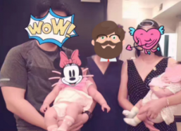 两个美国试管婴儿宝宝出生后的一百多天